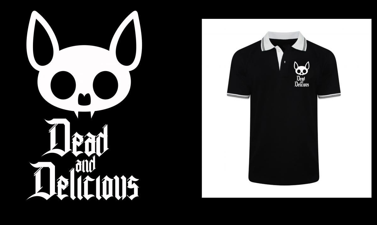 Dead & Delicious Mesh Polo (FREE VICIOUS DELICIOUS TEE) - thedarkarts
