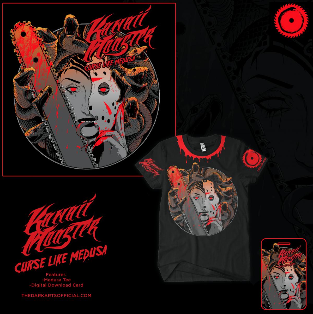Curse Like Medusa Tee! (FREE Bad Blood ALBUM) - thedarkarts