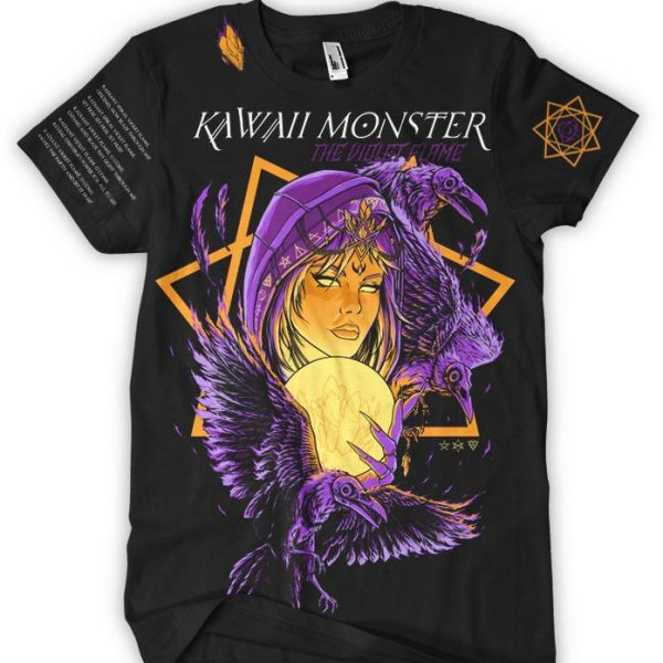 NEW! Kawaii Monster - The Violet Flame Official Tee (FREE DOWNLOAD + KM TEE INCLUDED) - thedarkarts
