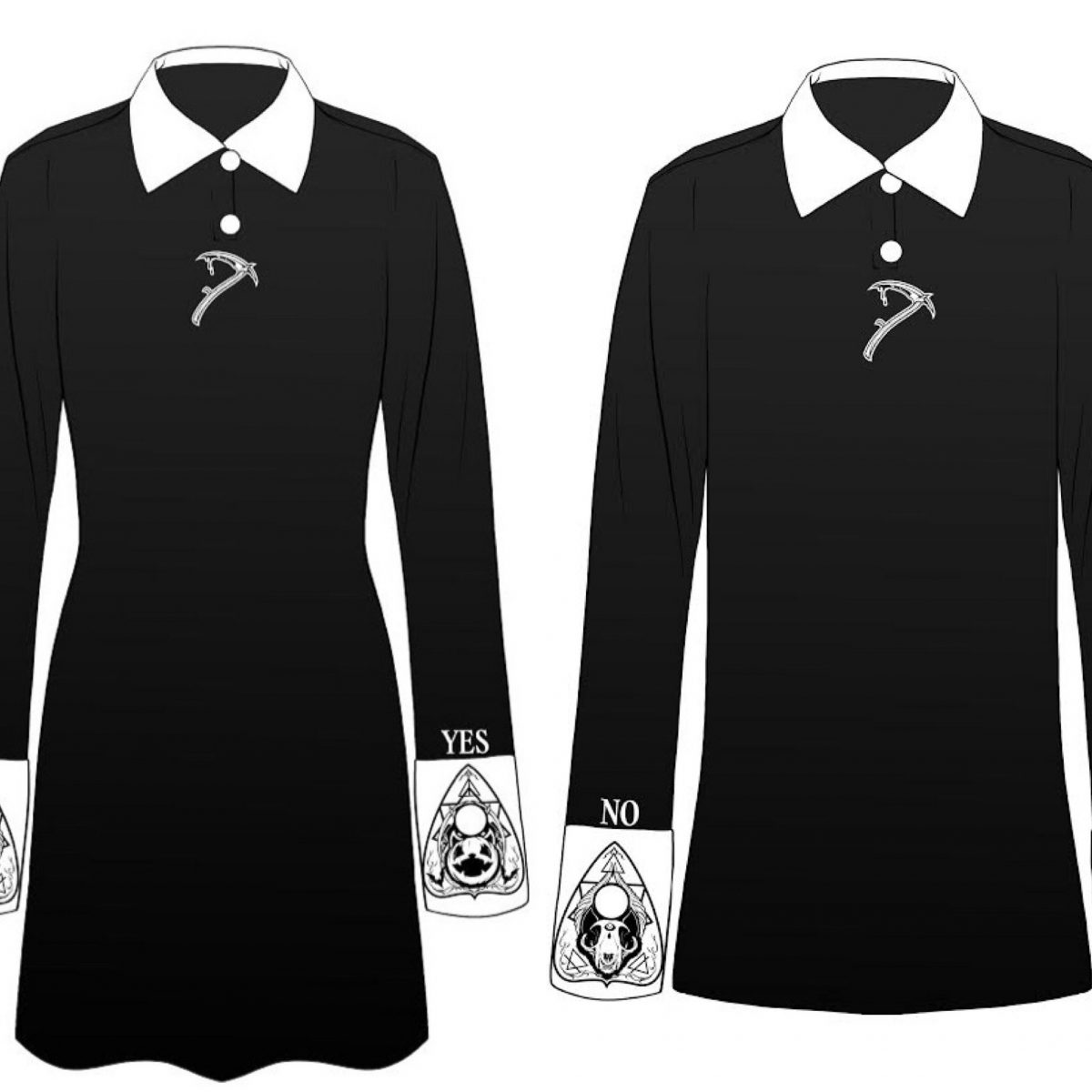 Summoner Dress OR Summoner Collar Shirt (FREE BEANIE INCLUDED) - thedarkarts